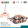 Kids RC battle army tank IR control 4ch with light rc tank 1 10