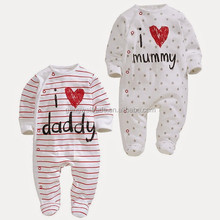 Mummy and Daddy One Piece Baby Romper New Model Cotton Toddler Jumpsuit Infant Clothing Wear 3pcs/lot