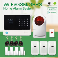 2015 Wireless GSM WIFI burglar alarm system G90B support small order with APP in apple store and android market
