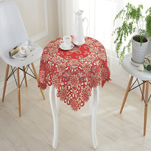Wholesale hand made embroideried design of 120 round tablecloth