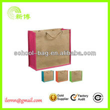 Biodegradable Eco-Friendly Mouth Hemmed Jute Bag for Rice