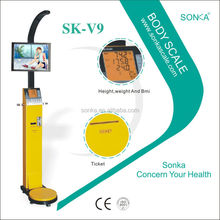 Weighing Scale Label Printing Barcode Printing SK-V9 With CE Coin Acceptor Machine