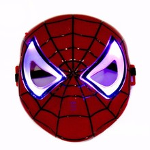 PVC-008 Yiwu CaddyCosplay iron man ,spiderman ,batman,superhero mask party pvc & eva mask