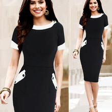 Wholesale cheap Europe and America ladies cherrykeke western button black and white and color match sexy fancy long lady dress