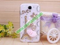 Luxurious 3D Eiffel Tower Pattern bling bling case for samsung galaxy s4 with Diamond Crystal