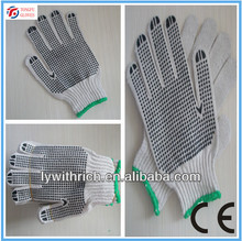 pvc dotted working gloves,cotton working glove