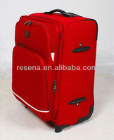 Polyester built-in 2 wheels large suitcases, trolley rolling suitcase