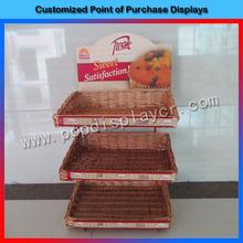 Custom design supermarket 3-tier metal wire cupcake stand
