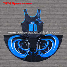 Casual latest design sublimation cheap netball dress