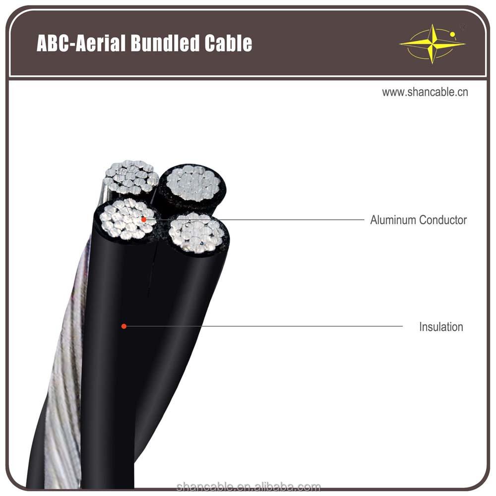 Aerial bundle cable abc overhead electric cable pvc pe xlpe insulation