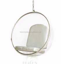 Wholesale top gloss transparent acrylic hanging bubble chair,indoor furniture