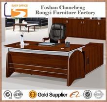 High end l shape luxury wood office desk