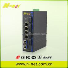Industrial 4-port 10/100/1000 PoE+6x1000-X fiber Ethernet Switch PoE switch