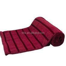 soft satin stripe red bedding stock coral fleece blanket/stadium blanket,best gifts women queen,king