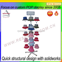 customized metal rotating hat display stand
