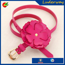 Fashion thin handmade candy color leather waist jeans belts