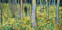 Modern home decoration Van Gogh Undergrowth with Two Figures painting