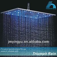 JFQ046CP top luxury 7 colors led light bathroom shower head