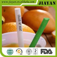 2015 hotsell custom logo print drinking straw