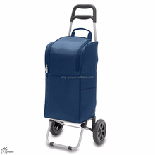 Insulated Cart Cooler Trolley Bag with Wheels wholesale shopping trolley bag