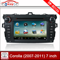 Bway car radio for Toyota COROLLA 2006-2011 car dvd player with GPS,Radio,bluetooth,steering wheel