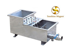 Strong Neodymium chute type magnetic separator for liquid and slurry raw material