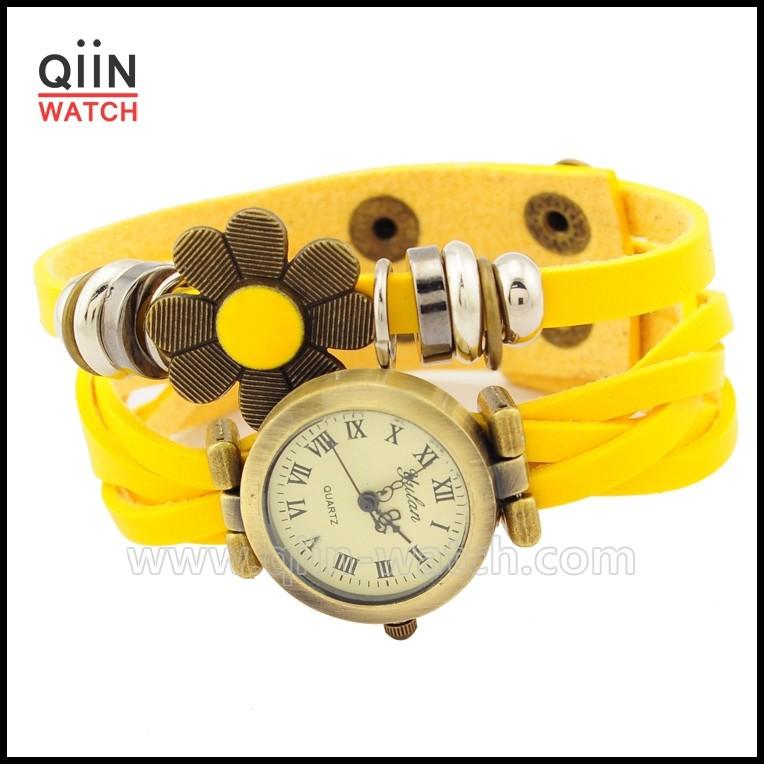 Alibaba china no mercado vogue assista relógio de couro genuíno sport watch QU0224