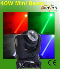 PRO 40W MOVING HEAD Light Mini LED DJ Disco Beam Lamp DMX Lighting