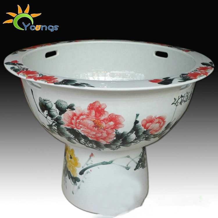 Big Jingdezhen Blue And White Porcelain Ceramic Pedestal