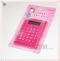 Pink cute jewel basic calculator , beautiful shining calculator