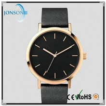 2015 Vogue simple leather japan movt custom wrist watch custom made watch dials
