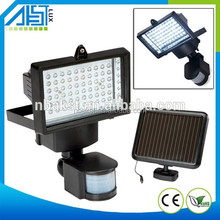 1W solar panle 5W led flood light with PIR sensor motion sensor led solar light