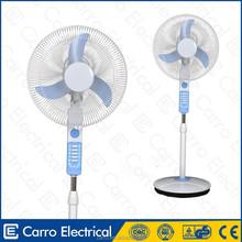 16inch solar emergency pedestal fan with ac/dc double duty and solar panel