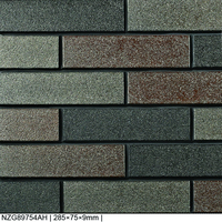 glazed metal color facing exterior wall tile outside decorative wall