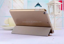 Good Guality Three Folding Flip Leather Case for iPad 4 Case Cover