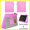 Fold Stand Leather Tablet Case for ipad 1st with Credit Card Wallet Holder Genuine Leather for ipad Case for ipad 6 mini New Hot