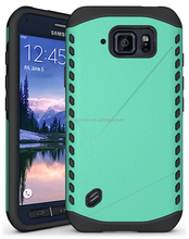 Best Selling 2015 Two Layer Silicone PC Cell Phone Case for Samsung Galaxy S6 Active