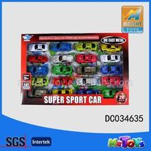 3' hot selling 20pcs mini die cast car,metal car,pull back function