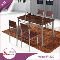 Dining room wood dining tables design set heavy-duty modern cheap 4 person dining table and chairs for home