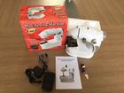 Mini máquina de costura wiht Led elétrica máquina de costura doméstica 4 em 1