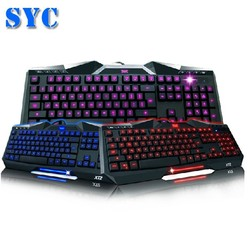 2015 hot sell Backlit Wired Gaming keyboard