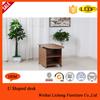 High quality office U designed side desk/filing cabinet