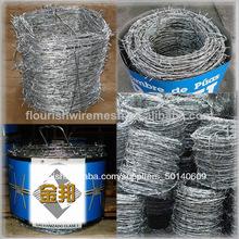 alambre de púas galvanizado por inmersión en caliente