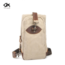 Hot brand quality beige canvas with leather trim single strap backpack