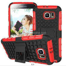 Rugged smart hybrid case with kickstand for Samsung Galaxy S6 protective sturdy cover