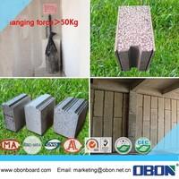 OBON cheap fire cement eps facade wall panel