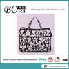 flower print travel clear PVC cosmetic bag