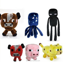 2015 New Hot Sale High Quality Mine craft Plush Toy Sheep JJ Creeper Ocelot Squid soft stuffed plush toy 2015