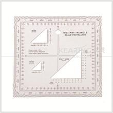 kearing brand aviation square protractor, combination square set protractor,super quality Military square ruler #KMP-4
