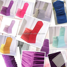 New design wrinkled spandex chair covers/popular wedding decoration spandex chair covers